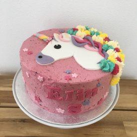 Bij_Roos_op_de_Thee_taart_Unicorn_eenhoornt_verjaardagstaart_kindertaart_cursus_taartdecoratie_Woerden